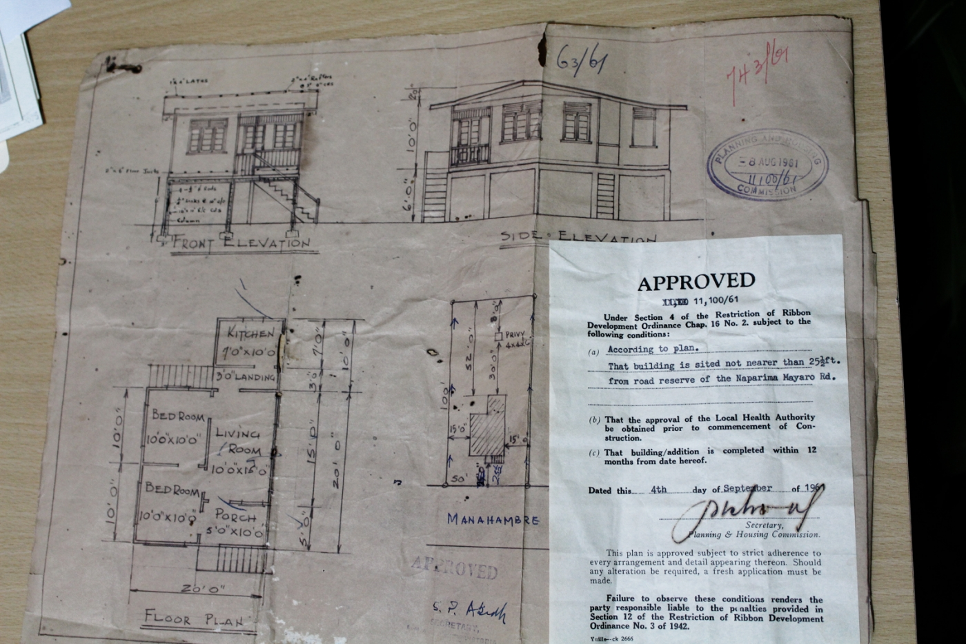 Vintage House Plans And Approvals From Trinidad Anthony